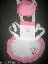 LADIES MISS POLLY had a DOLLY COSTUME APRON & MOP TOP HAT Made to Fit ALL SIZES
