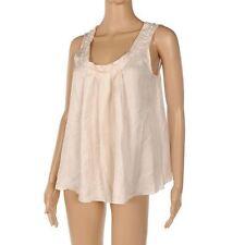 Silk No Pattern Regular Collarless Tops & Shirts for Women