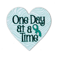 Magnetic Bumper Sticker - Cervical Cancer Support Heart - Awareness Magnet