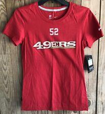 NWT Nike Women's Medium Tshirt San Fransisco 49ers Patrick Willis 52 NFL NEW