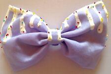 Pastel Purple Dripping Melting Hair Bow Kawaii Fairy Kei Sweet Lolita Candy Cute