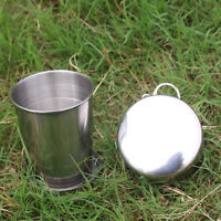 Portable Stainless Steel Outdoor Travel Folding Cup Travel Collapsible Mug wwr
