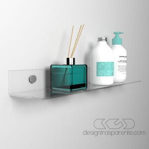 Mensola in Plexiglass trasparente varie misure - bagno e cucina--