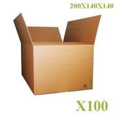 100 CARTONS BOITES EMBALLAGE 200X140X140 M/M LIVRAISON GRATUITE CAISSES
