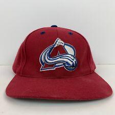 d5cb5cb332ed8 Logo Athletic Colorado Avalanche Wool Blend Snapback Hat Vintage 90s NHL  Hockey