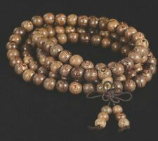 Unisex 108 Mala Prayer Beads Sandalwood Buddhist Bracelet Necklace (US Sold)