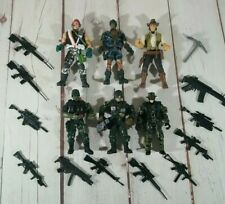 "Chap Mei Mixed Lot Of (6) Elite Forces 3.75""  Fogures From Diferent Years + Guns"