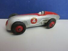 vintage DINKY TOYS MECCANO 23a STREAMLINED RACE CAR 4 DIE-CAST red 59W