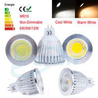 Bright 6W 9W 12W MR16 COB CREE LED Spot Light Downlight Ceiling Lamp Globe Bulbs