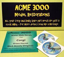 Corgi Green Hornet 268 REPRO ricambio originale TETTO scivolo Ad Acqua Decalcomania Trasferimento