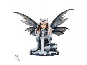 FAE-LORE Large 30cm Fairy Wolf Wolves Ornament Figurine Nemesis Now - FREE P+P