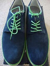 NEW STAFFORD MEN'S AUSTIN PLAIN TOE LACE UP OXFORD LEATHER SHOES NAVY SIZE 8M