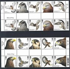 GREAT BRITAIN 2019 BIRDS OF PREY GUTTER PAIRS UNMOUNTED MINT, MNH