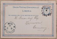 MayfairStamps Liberia 1899 to Hannover Germany Used Stationery Cover wwk08833