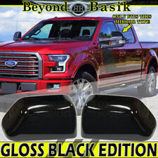 Mirror Covers TOWING Top Half for 2015 2016 2017 2018 2019 Ford F150 GLOSS BLACK