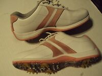 Women's Golf Shoes size 8 1/2  8.5 Etonic White and Pink