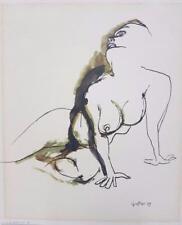 Stampa litografica d'epoca renato guttuso edizioni spadem 1966 - s.p.a.d.e.m.