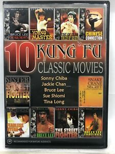 Kung Fu Classic Movies - 10 Movie DVD Box Set - AusPost with Tracking