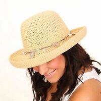 ladies summer hat sun crushable packable foldable brim