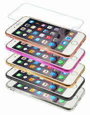 Eloja ® iPhone 6 Case TPU (4,7) Case Bumber metal look with Tempered Glass Film