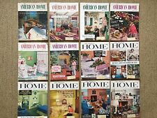 The American Home Mid Century Magazine 1956 Full Year