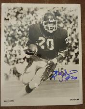 Billy Sims Oklahoma Sooners autographed photo NFL NCAA JSA PSA Detroit Lions