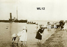 North Norfolk Postcard - Wells next the Sea - The Beach & Steam Tug - WL12