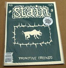 STAIN #11 punk fanzine hand-silkscreened cover MINT oop zine SUFFACOX flexi ECW