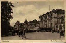Hannover Niedersachsen AK ~1920/30 Bahnhof Menschen Post Denkmal Reiter Polizist