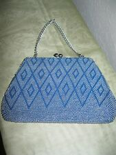 Vintage Blue Art Deco Beaded Purse