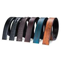 Fashion Mens Leather Replacement Belts No Automatic Buckle Waistband Strap Lot