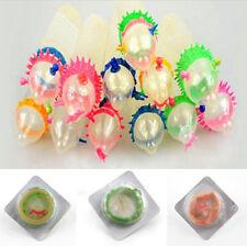 10 Pcs Hot Adult Sensitive Orgasm Latex Condoms Dotted Ribbed Stimulate Vaginal