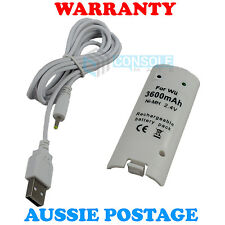 RECHARGEABLE BATTERY PACK (3600mAh) - White - for Nintendo Wii Remote