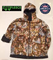New Winter Fleece Pink Cats Kittens Kids Boys Girls Jacket Hood Coat Reversible