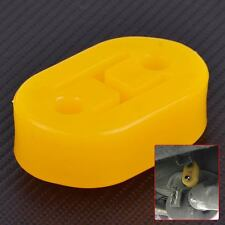 Yellow H Shape 2 Hole Exhaust Pipe Rubber Mount Hanger Brackets Replacement Car