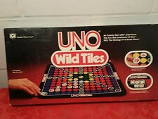 1982 Uno Wild Tiles Board Game By International Games Inc. Printed instructions