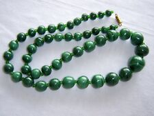 Genuine Verde Malachite Collana Graduato Perline Perline COLLANA MALAKITE africana