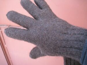 Men's gloves PURE SHEEP WOOL 100% natural handmade very thick warm craft Russian