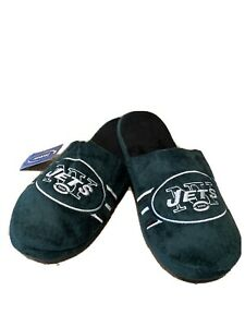 New York Jets NFL Men's Side Stripe Slide Slippers  ~ New With Tags