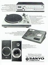 PUBLICITE ADVERTISING 0217  1978  Sanyo   hi-fi enceintes platine compact