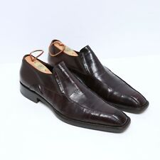Rare Cesare Paciotti Brown Eel Loafers Made in Italy Mens US 9 Exotic