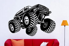 Monster Truck Wall Decal Vinyl Sticker Big Monster Car Interior Art Decor (2bmc)