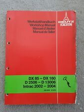 DEUTZ FAHR DX85-160 D2506-D13006 INTRAC 2002-04 TRACTOR STEERING SERVICE MANUAL