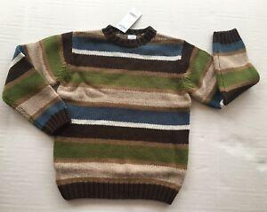 NWT Gymboree Arctic Adventure Size 7 Green Blue & Brown Stripe Sweater