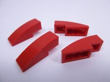 LEGO x4 Red Slope Curved 50950 Set 8652 8142 8144 8671 8155 8153 10248 8156 7208