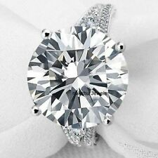 Engagement Ring 14K White Gold All Size 7.99 Ct White Round Moissanite 2 Shank