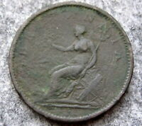GREAT BRITAIN GEORGE III 1807 PENNY, COPPER