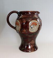 Antique Art Nouveau Royal Doulton Stoneware Pitcher Brown #1349