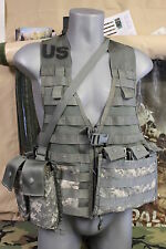 3 PC MOLLE II ACU DIGITAL FIGHTING LOAD CARRIER W BANDOLEER & TRIPPLE MAG POUCH