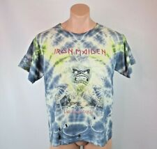 Iron Maiden VTG 80s T-Shirt 1985 Live After Death Tour Concert Thrashed! Tie Dye